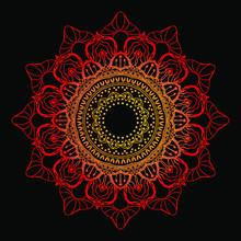 Vector Illustration Isolated Mandala Art Design Background