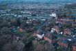 Aerial View over Residential Area in UK