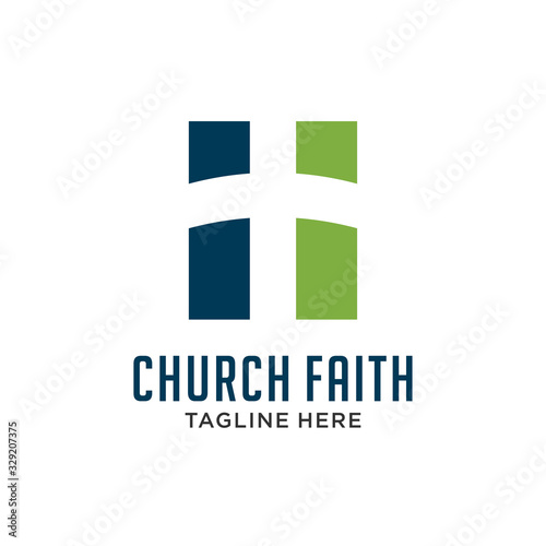 Fotomural simple Church logo