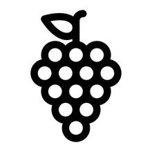 Grape Icon In Line Style. Ripe...