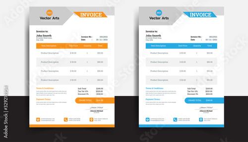 Fotomural Invoice minimal design template