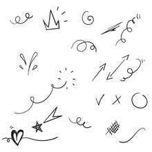 Hand Drawn Doodle Element Coll...