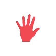 Palm Hand Graphic Design Templ...