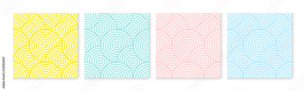 Fototapeta Background pattern seamless circle abstract colorful pastel colors. Summer background design.