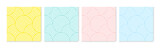 Background pattern seamless circle abstract colorful pastel colors. Summer background design. - 329226167