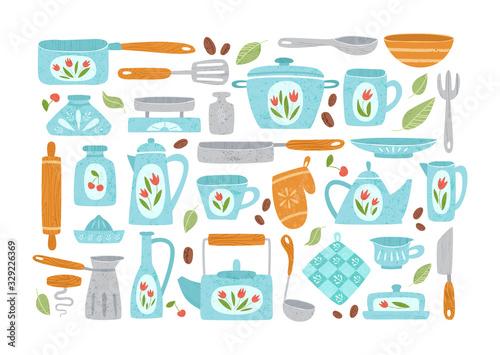 Kitchen utensil or kitchenware design elements Wallpaper Mural