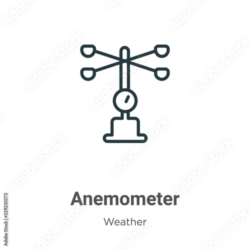 Anemometer outline vector icon Wallpaper Mural