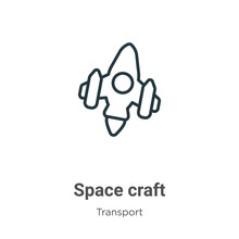 Space Craft Outline Vector Ico...