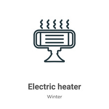 Electric Heater Outline Vector...