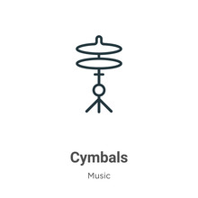 Cymbals Outline Vector Icon. T...