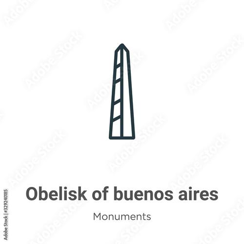 Fotografía Obelisk of buenos aires outline vector icon