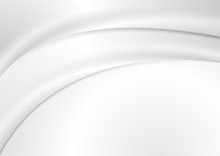 Abstract Grey Liquid Flowing E...