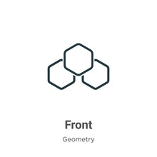 Front Outline Vector Icon. Thi...
