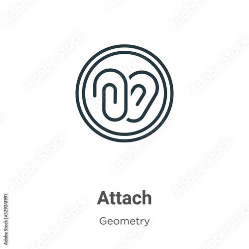 Photo Attach outline vector icon