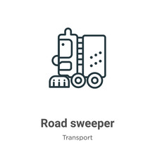 Road Sweeper Outline Vector Ic...