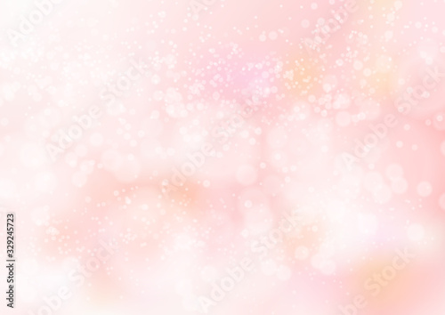 Fototapeta ピンク色グラデーションのキラキラ光イメージ背景