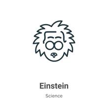 Einstein Outline Vector Icon. ...