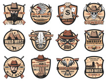 Wild West Vintage Vector Icons...