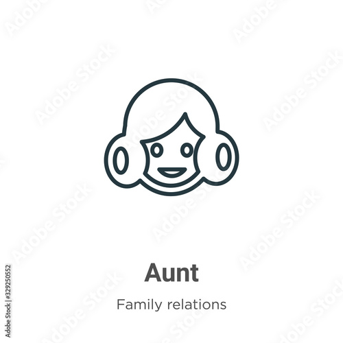 Photo Aunt outline vector icon