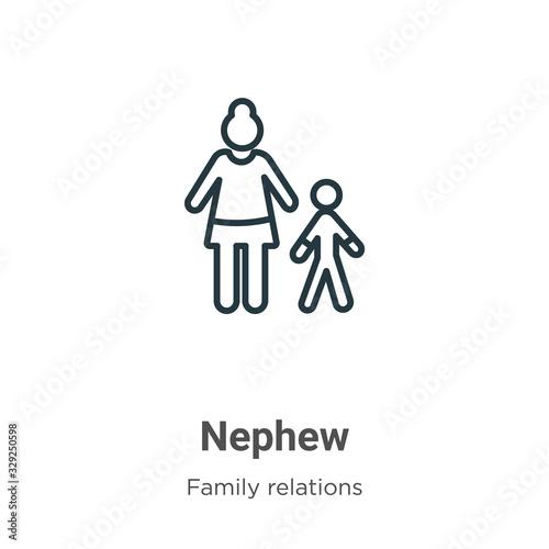Vászonkép Nephew outline vector icon