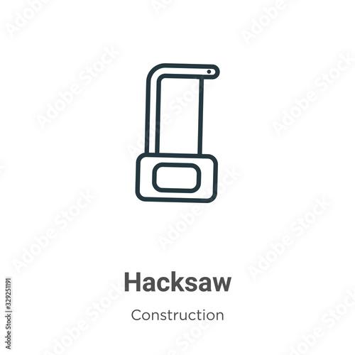 Fototapeta Hacksaw outline vector icon
