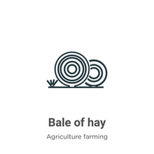 Bale Of Hay Outline Vector Ico...