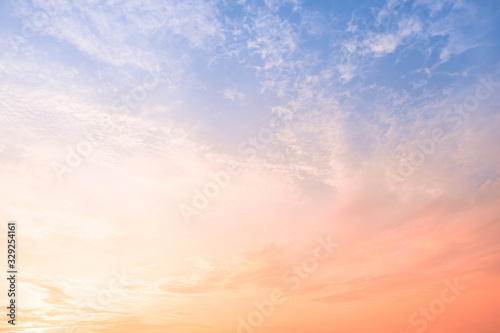 Cirrus clouds in the morning Environment and atmosphere Wallpaper Mural