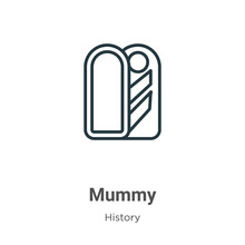 Mummy Outline Vector Icon. Thi...