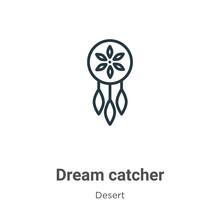 Dream Catcher Outline Vector I...