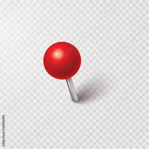 Vászonkép Pin with shadow isolated on transparent background
