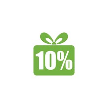 Ten Percent Off Discount Or Offer Label Promotion Isolated On White Background