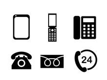 電話機アイコンマーク...