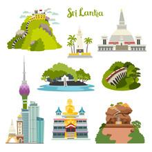 Sri Lanka Island Vector Illust...