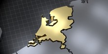 Netherlands - Country Shape - ...