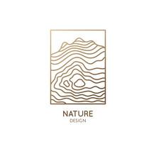 Abstract Mountain Logo. Natrur...
