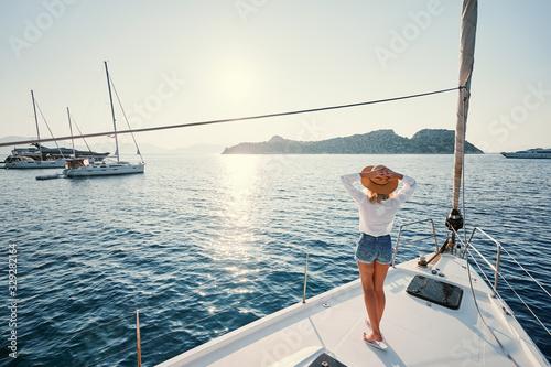 Luxury travel on the yacht Fototapeta