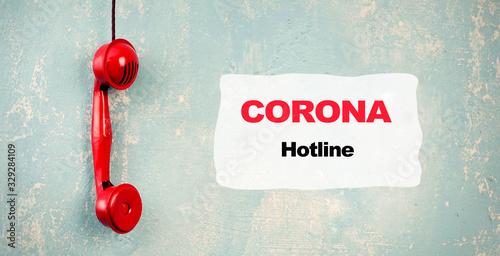 Corona Hotline Canvas Print