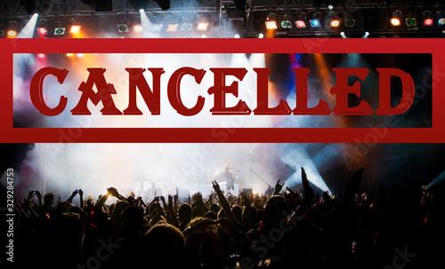public event cancelled - crowd at concert - coronavirus measures Canvas Print