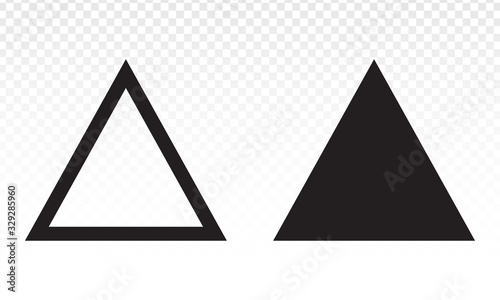 Up arrow triangle or pyramid line art vector icon for apps and websites Wallpaper Mural