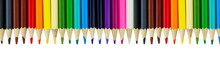 Color Pencils In A Row With Th...