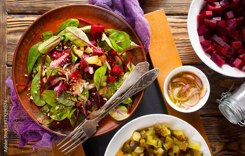 Photo salad with beet