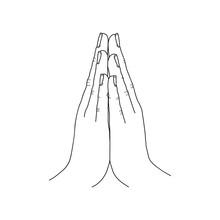 Mudra. Hand Greeting Posture O...