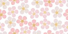 Seamless Pattern Of Sakura Or ...