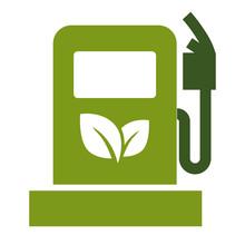 Ecology Saving, Eco Fuel Gas Station Symbol