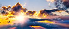 Dramatic Sunset Sky Landscape ...