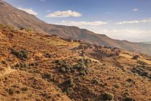 Lesotho Mountain Landscape Near Malealea Vilage, Lesotho
