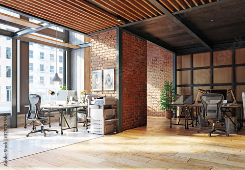 Fototapeta contemporary loft office obraz