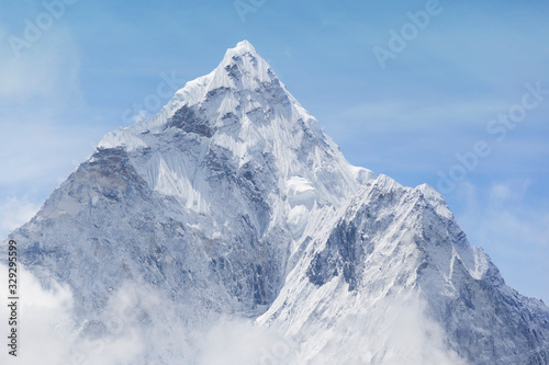 Ama Dablam Peak, Nepal. Trek to Everest Base Camp.