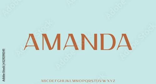 amanda , luxury elegant and glamour font, vector typeset royal typeset Wallpaper Mural