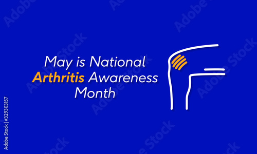 Photo Vector illustration on the theme of National Arthritis awareness month of May